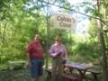 My Dad and Uncle Tom on the nature trail he created.